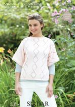 Sirdar Wash 'n Wear Double Crepe - 7223 T Shaped Top Knitting Pattern
